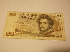 Austria, 20 Schilling Banknote, 1986, A 008697 G ZWANZIG SCHILLING 21-190