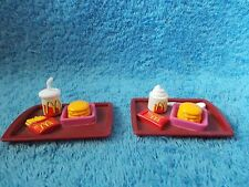Barbie Doll * McDonalds * Tray with Hamburger - Drink - Fries & More * Diorama