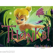 TINKER BELL THANK YOU NOTES (8) ~ Birthday Party Supplies Cards Stationery