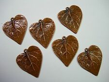 Copper plated Leaf Drops Earring Findings Pendant - 6