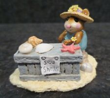 Wee Forest Folk WFF Shelly M - 235 M235 Collectible Mouse Figurine Summer Beach