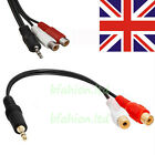 3.5mm Male Mini Stereo Jack to 2 Female RCA Twin Phono Cable Lead PC TV Aux Wire