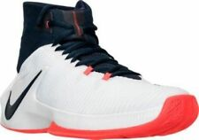 NIKE ZOOM CLEAR OUT Men's Basketball Shoes 844370 146 White Obsidian Red sz 11.5