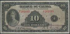"""CANADA BC-8 $10 1935 """"FRENCH"""" VF WL8409"""