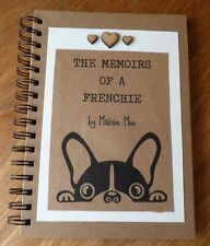 Personalised Note Book Notebook Frenchie French Bull Dog Bulldog Pet A5 Vintage