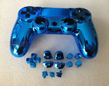 R Blue Chrome Plating Housing Shell Case+Buttons for PS4 Controller DualShock4 4