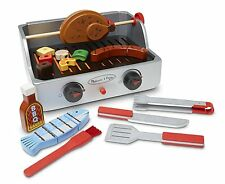 Grill Wooden Barbecue Set BBQ Food Toys 24 Piece Kids Spatula Camping Tongs New