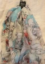 LOUNGEFLY / Disney ALICE IN WONDERLAND  W  OBLONG SCARF NEW WITH TAGS UK SELLER