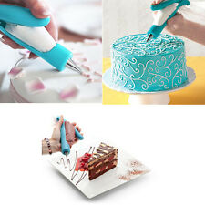 Icing Pen 2 Nozzles Piping Bag Sugarcraft Cake Decorating Baking tool set