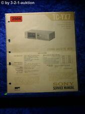 Sony Service Manual TC YX7 Cassette Deck (#2504)