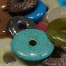 Mixed Stone Donut Focal Components QUARTER POUND Bag 15mm - 60mm Sizes
