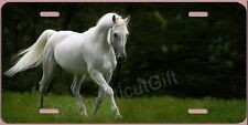 Beautiful WHITE HORSE  License Plate  Made in USA