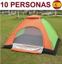 TIENDA DE CAMPAÑA PARA 10 PERSONAS IMPERMEABLE CAMPING CARPA SUPER OFERTA