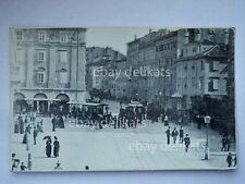 TRIESTE TRAM tramway volti Chiozza vecchia cartolina fotografica