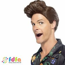 1990s BROWN ACE VENTURA PET DETECTIVE WIG ladies womens fancy dress costume
