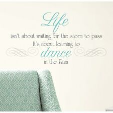 New DANCE IN THE RAIN QUOTE WALL DECALS Inspiration Quotes Stickers Home Decor
