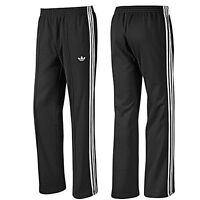 Mens Black Adidas 3 Stripe SPO BECKENBAUE Pants Tracksuit Bottoms