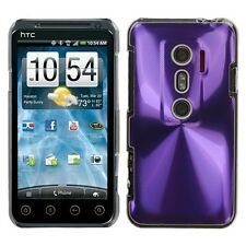 Purple Cosmo Hard Plastic Phone Protector Cover Case for HTC EVO V 4G / EVO 3D