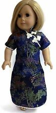 """Navy Asian Dress made for 18"""" American Girl Doll Clothes"""