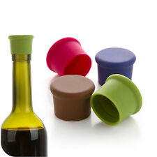 Silicone Wine Bottle Stoppers Wine Beer Round Seal Cap Kitchen Bar Tools New