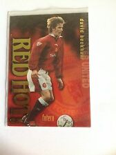 DAVID BECKHAM 1997 FUTERA RED HOT TRADING CARD RH3  #1554/7500 MANCHESTER UNITED