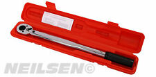 "1/2 "" Adjustable Torque Wrench with Plastic Case  10   150 ft/lbs"