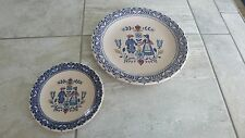 Johnson Brothers Hearts and Flowers, Old Granite, Set of 2 plates, large & small