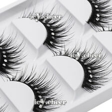 5 Pairs Makeup Diamond False Eyelashes Extension Eye Lash Handmade Ultra Long
