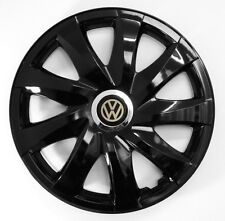 4x15'' copricerchi per VOLKSWAGEN di barbabietola Golf Sharan Touran Polo Black 15""