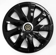 4x16'' Copricerchi per VW Volkswagen Crafter Caddy Golf Sharan t5 Nero 16""