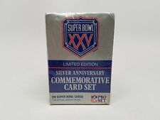 Superbowl XXV Silver Anniversary Commemorative Card Set Limited Edition