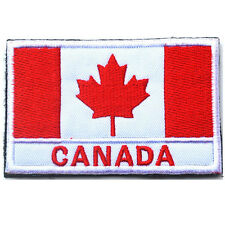 Canada Country Flag Canadian FLAG ARMY 3D EMBROIDERED HOOK LOOP PATCH