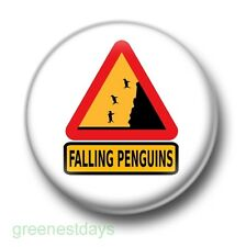 Falling Penguins 1 Inch / 25mm Pin Button Badge Cute Birds Animals Arctic Kitsch