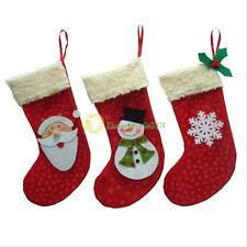 3X Christmas Stocking Santa Claus Hanging Gift Bag Decoration Party Ornament New