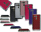 NEW CHROME SIDES PHONE DIAMOND HARD BACK CASE COVER FOR SONY XPERIA SP M35H