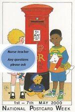 No 75 National Postcard Week 1st - 7th May 2000 Royal Mail Pillar Box 1991