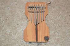 African Wooden Handheld Thumb Piano ~ Handmade Musical Instrument~8 Notes
