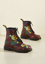 Doc Dr. Martens March Through Manhattan Leather Boots Cherry Splatter 7 NIB New