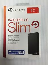 Seagate Backup Plus Slim 1 TB, New- Opened To Verify Contents, 1TB New