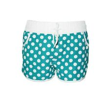 "NEW! AUTH IN EXTENSO WOMEN'S BOARDSHORTS/ WATER SHORTS (TEAL DOTS, XS/ W26-28"")"