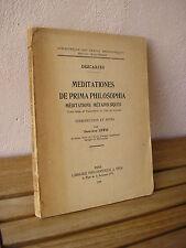 DESCARTES : MEDITATIONS METAPHYSIQUES 1949