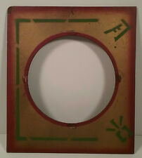 Square Panel Round Center Part for Magic Stage Trick Piece Vintage 1950's