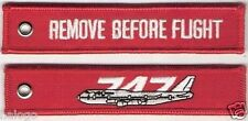 747 REMOVE BEFORE FLIGHT RED KEYCHAIN  - KEY004