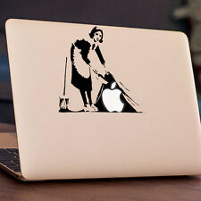 "BANKSY - SWEEPING Apple MacBook Decal Sticker fits 11"" 13"" 15"" and 17"" models"