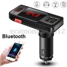 Car Kit Bluetooth Handsfree FM Transmitter Modulator SD MP3 Player USB Charger