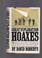 Great Exploration Hoaxes by David Roberts, 1982 1st edition HC with dust jacket