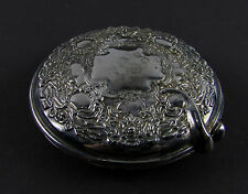 "Monogrammed PCS "" INTERNATIONAL SILVER COMPANY "" Silver Plated Compact Mirror"