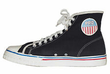 PRO Basketball Vintage Black Canvas Keds Sneakers High Top Size Mens 9