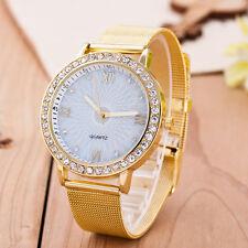 Exquisite Fede D'oro Quadrante Bianco diamante Ore Uomo Donna Orologio F5065 GG