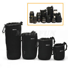 4 X S+M+L+XL Neoprene Camera DSLR Lens Soft Waterproof Pouch Bag Case Bag Set
